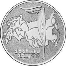 "2014 Russia 25 Rubel Brilliant Uncirculated Coin ""Sochi Olympics: Torch"""