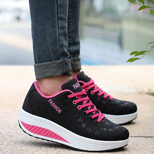New Sports Shoes Thick Casual Platform Shoes Running Walking Sneakers For Womens
