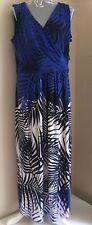 BNWT Ladies White Navy & Blue dress by Liz Claibourne size XL Uk 18