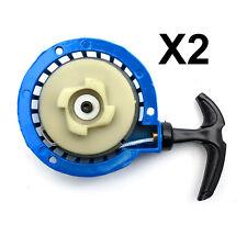 2 MiniMoto Blue Easy Start PULLSTART 49cc Mini Moto Quad Dirt Bike ATV Dirtbike
