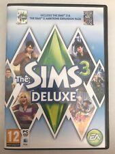 Los Sims 3 Deluxe con ambiciones Pack De Expansión PC/MAC UK-Probado-Libre P&p!