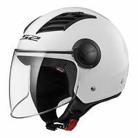 XL LS2 Airflow Open Face w Visor Motorbike Helmet White