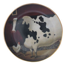 Bessies Barn American Folk Art Lowell Herrero Franklin Mint Country Cow Plate