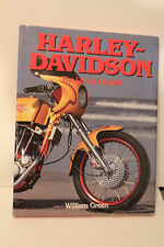 Harley Davidson THE LIVING LEGEND HARDCOVER BOOK  1991 BY WILLIAM GREEN  9 x 12