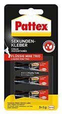 Pattex Sekundenkleber Flüssig Liquide Mini Trio 3x1g Kleber Alleskleber