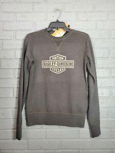 Harley-Davidson Women's Studded Logo Pullover Sweatshirt Espresso 99064-20VW XS