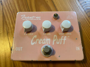 Frantone Cream Puff Fuzz Guitar Distortion Overdrive Effect Pedal Muff