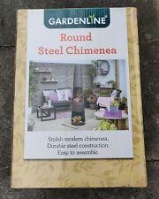 Gardenline Round Chimenea🔥Patio Wood Burner | FREE UK Delivery 🚚