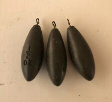 SETS OF 5 DINSMORES ARLESEY NON TOXIC BOMBS,CARP,MATCH,FISHING,SINKERS,WEIGHTS