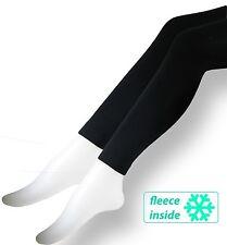 Thermo Leggings schwarz 2er Pack aus Mikrofaser Soft Fleece warme Winter Legging