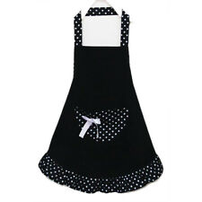 Cotton Polka Dot Pattern Working Kitchen Cook Womenu0027s Bib Bowknots Pockets  CP