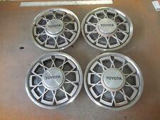 """1981 81 Toyota Corolla Hubcap Rim Wheel Cover Hub Cap 13"""" OEM USED 61015 SET 4"""