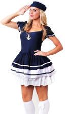 Womens Ladies Navy Sailor Boat Captain Fancy Dress Costume Size 14 - 16