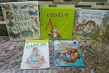 Books 1st Bible Story Happy Easter Great Catch of Fish Clean Up Bunny Bracelet