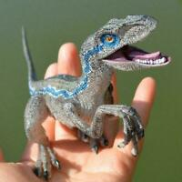 Jurassic Blue Dinosaur Velociraptor Toy Educational Gift Model N7E1