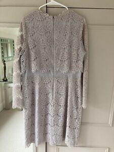 Ladies Coast Size 16 Grey Lace Dress