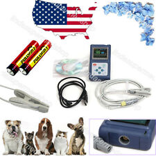 US Veterinary CONTEC CMS60D-Hand-held-Pulse-Oximeter-With Vet Tongue Probe FDA