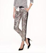 J Crew Collection Petite Cafe Capri Gilded Paisley Jacquard Size 8P Pants Lined