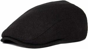 BOTVELA Men's Classic Tweed Cap Wool Blend Newsboy Ivy Hat