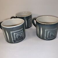 3 MIKASA ''POTTER'S CRAFT'' FIRESONG COFFEE MUGS