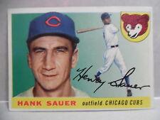 1955 TOPPS BASEBALL CARD # 45 HANK SAUER