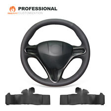 Top Black Genuine Leather Steering Wheel Cover for Honda Civic Civic 8 2006-2011