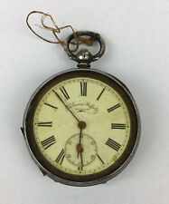 Antique Swiss Solid Silver Cased J G Graves Pocket Watch A/F Not Working