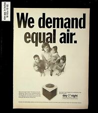 1969 Day & Night Equal Air Conditioning Vintage Print Ad 016082