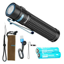 Olight S2R Baton II 1150 lm Rechargeable Flashlight w/ 2x Olight Batteries