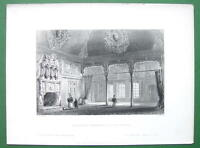CONSTANTINOPLE Turkish Apartment in the Fahar - BARTLETT  Engraving Print