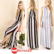 Stripes Long Women's Maxi Dresses