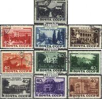 Sowjet-Union 1371-1380 (kompl.Ausg.) gestempelt 1949 Kurorte der UdSSR