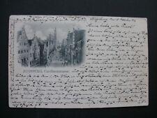 Herrliche alte LITHO 1903 - AUGSBURG - CAROLINENSTRASSE - Selten !!