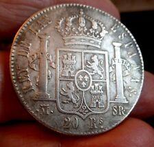 Rare 1822 Spain 20 Reales de vellon - Fernando VII Silver (.903) SR