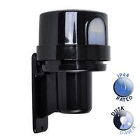 Black Outdoor Dusk till Dawn Exterior Photocell Light Sensor Detector Switch Kit