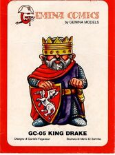 SOLDIERS MINIATURES GC-05 - GEMINA COMICS KING DRAKE RESIN KIT - NUOVO