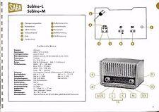 Service Manual-Anleitung für Saba Sabine-L,Sabine-M  Baujahr 1958/59