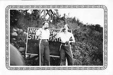 Indulging By The Strawberries Sign, Women, Lesbian, Vintage Photo Snapshot B1P6