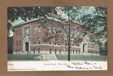 Flint,MI, Michigan, Walker School used 1908