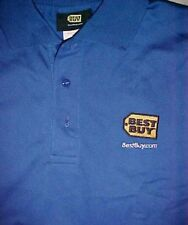 Best Buy Electronics Computer Video Games Associates Employees Blue Polo Shirt M