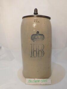 Alter Seltener Originaler Bierkrug München Hofbräuhaus von 1908 Rarität