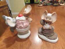 Hallmark Cheddar & Co Mice (Ice Cream and Oreos) 1984 (Set of 2)