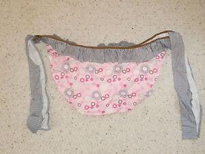 TREND LAB SPIROGRAPH BABY GIRL PINK BROWN FLOWER STRIPE TOY STORAGE BAG BIN NEW
