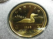 1988 Canadian Proof Loonie ($1.00) *Key Date* First Year of Proof Loonie in Sets