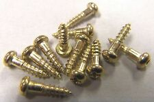"100 pcs Phillips Round Head Wood Screw Brass Plated  Steel # 2 x 3/8""  Free Ship"