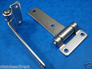 A PAIR OF STAINLESS STEEL HEAVY DUTY 316  T HINGES  ( WILL NOT RUST )