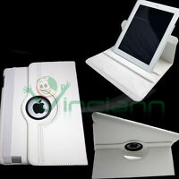 Custodia Rotante 360 Slim Stand per iPad 2 pelle sottile lettura scrittur BIANCA