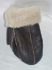 NEW! REAL SHEEPSKIN SHEARLING Leather MITTENS GLOVES MITTS THICK& WARM size S-M