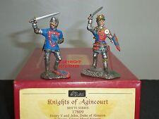 BRITAINS 17809 KING HENRY V + JOHN DUKE OF ALENCON KNIGHTS METAL TOY SOLDIER SET