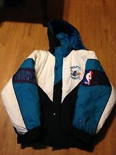Vintage 90s RARE style  Charlotte Hornets nba coat jacket by Pro Player size L